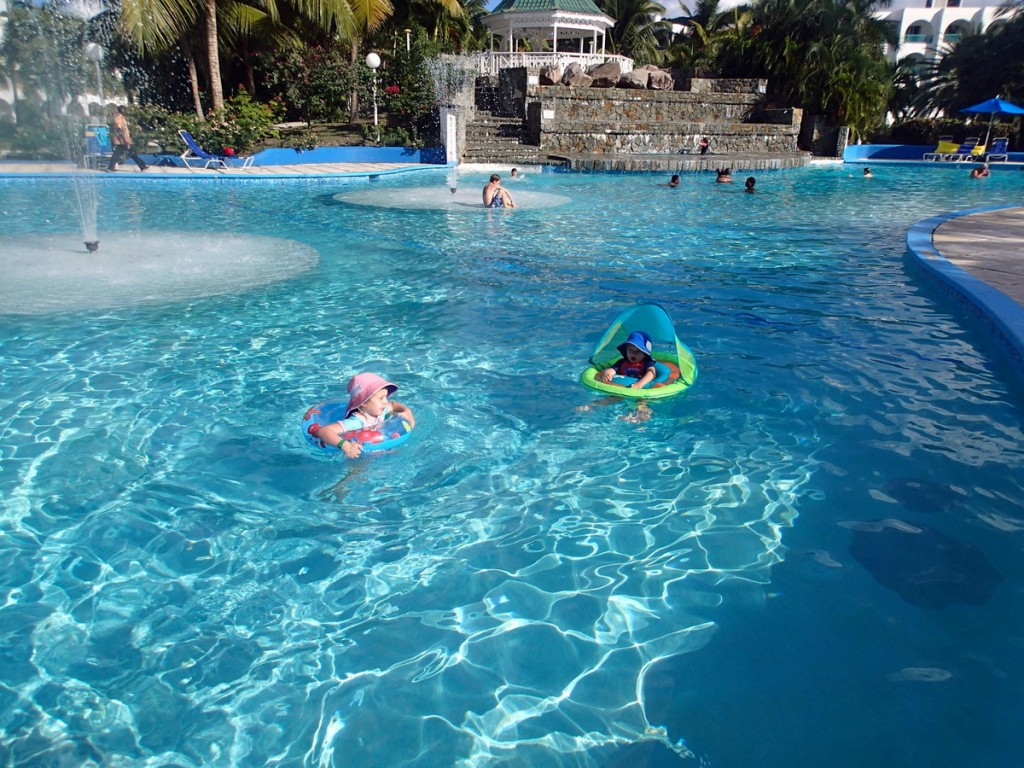 We stayed at the Jolly Beach Resort, an affordable all-inclusive in Antigua.  Although it was worn around the edges in spots, we still had a great time and it was fantastic value for the money.