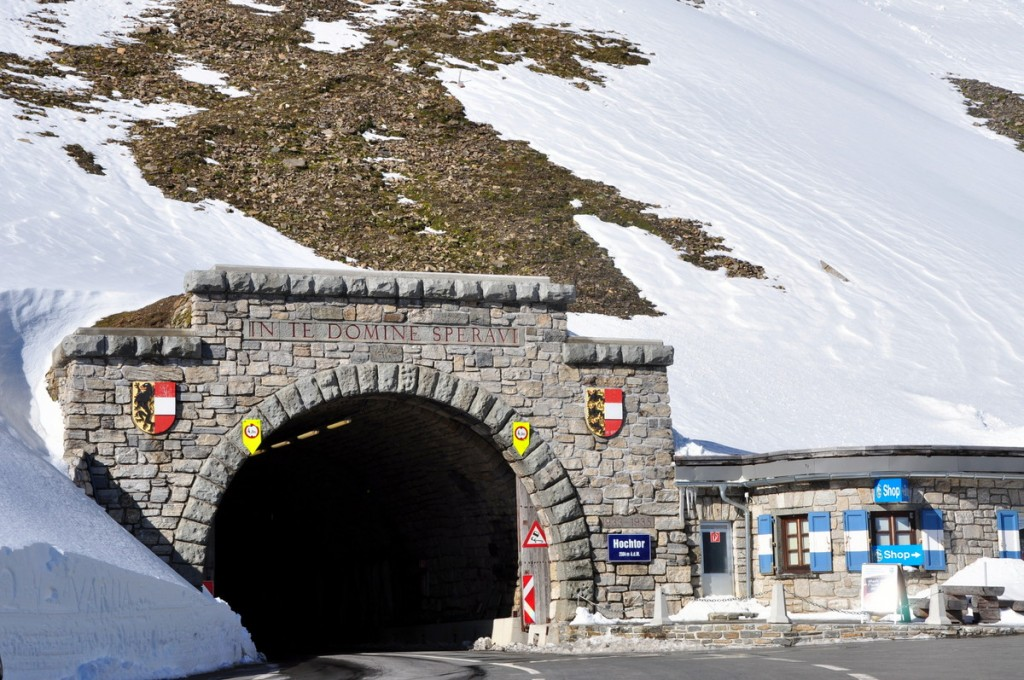 Hochtor tunnel, on the Grossglocker High Alpine Road