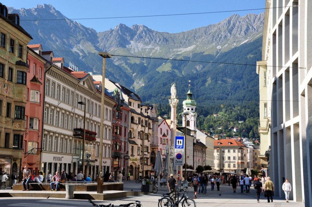 The beautiful town of Innsbruck, Austria was a lovely last stop in Austria.  Ringed by mountains with a beautiful center, we really enjoyed our time.