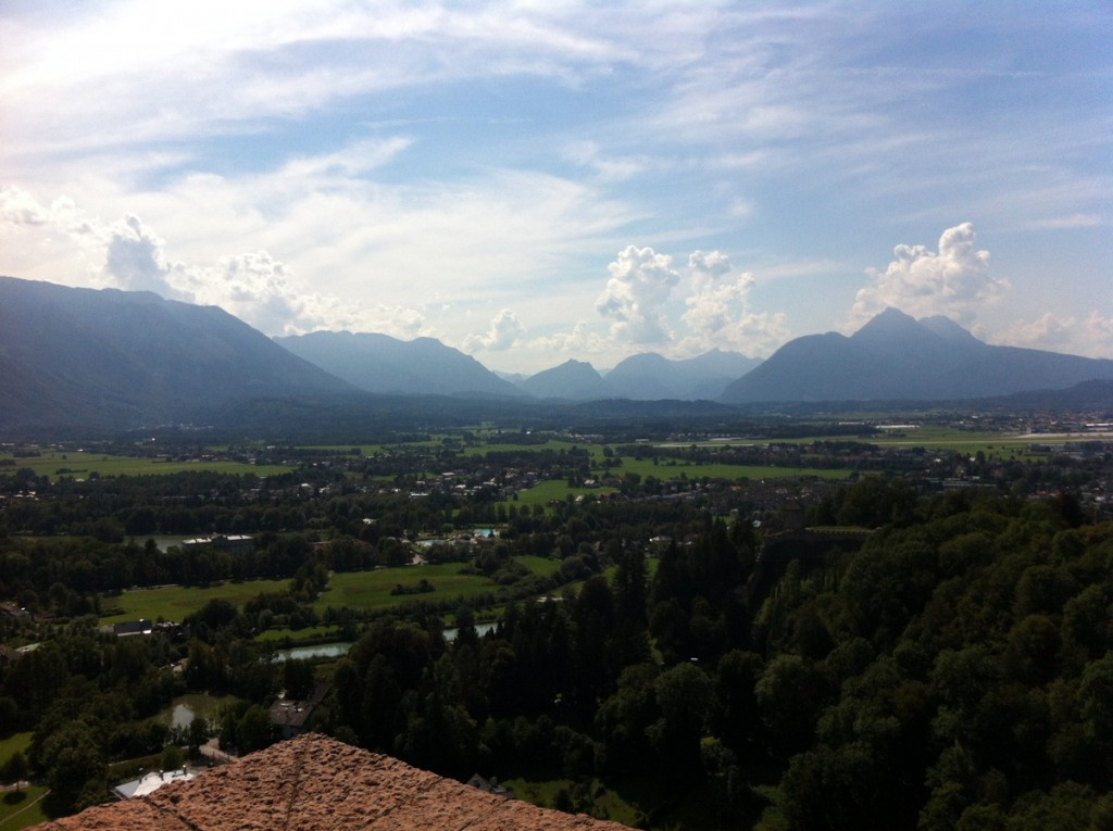 We took the funicular up to Salzburg Castle, or Hohensalzburg, and really enjoyed wandering around - although the interior wasn't much to speak of, the views were magnificent.