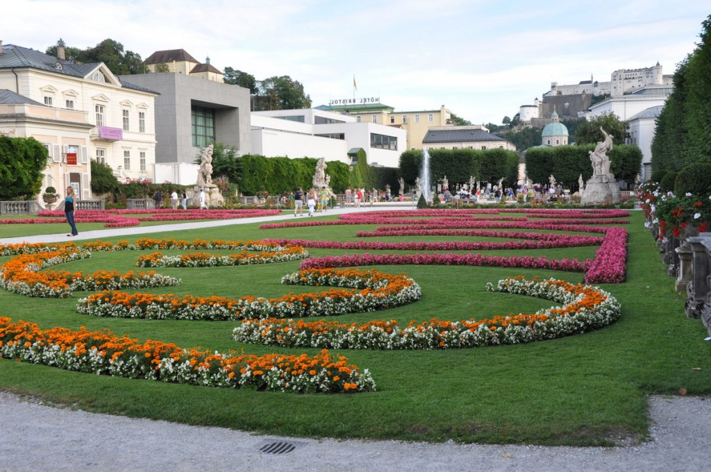 The gardens of Mirabellgarten are a beautiful set of gardens next to Mirabell Palace in Salzburg.