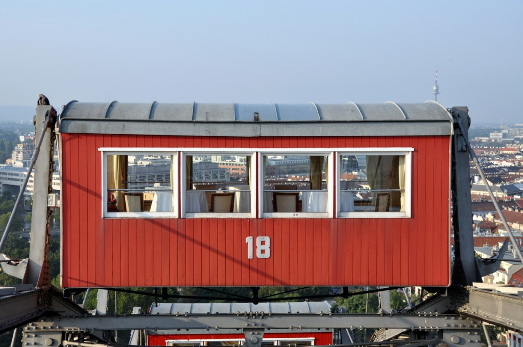 Dining car on the Riesenrad
