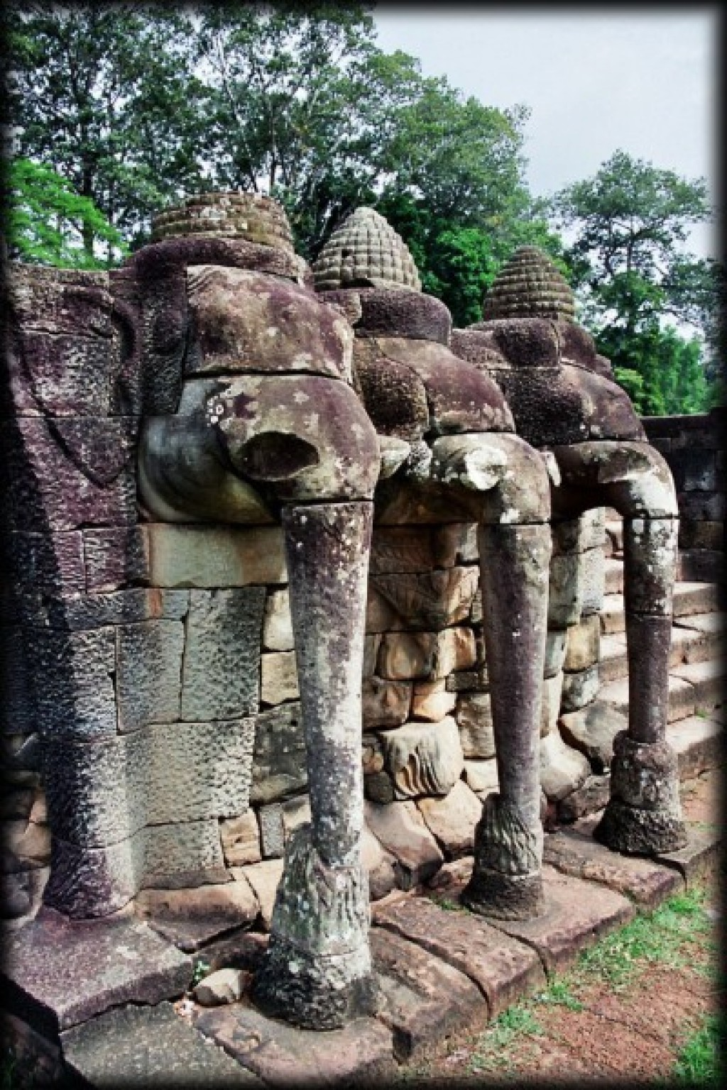 The Bayon is part of Angkor Thom.  Dedicated to Buddhism, it was built between 1181-1219.