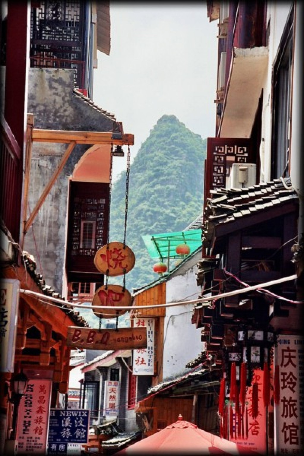 Yangshuo was the most touristy town we went to in China, and that includes Beijing.  It was the only place where we saw a lot of backpackers, and people spoke English!  Hello, postcard?