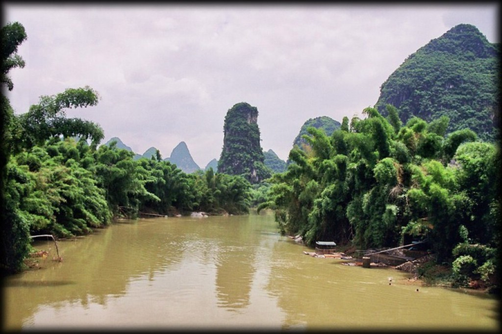 We visited Yangshuo, just a short bus ride from Guillin.  The scenery here is beautiful - it was also the most touristy town we visited in China.