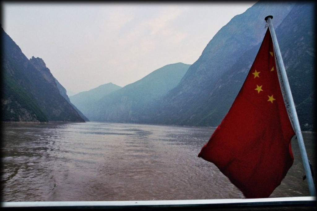 We took a cruise down the Yangtze river for a couple of days.  Although the boat we took left a little to be desired, the scenery was beautiful.