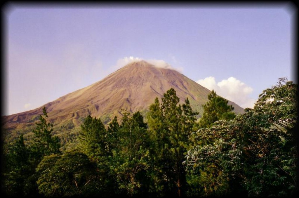 From San Jose, we took the tourist bus to Mount Arenal.  This is an active volcano.