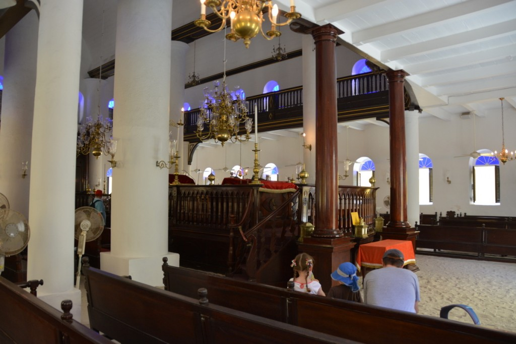 The Mikve Israel - Emanuel Synagogue is the Western Hemisphere's oldest synagogue.  The floors are sand.
