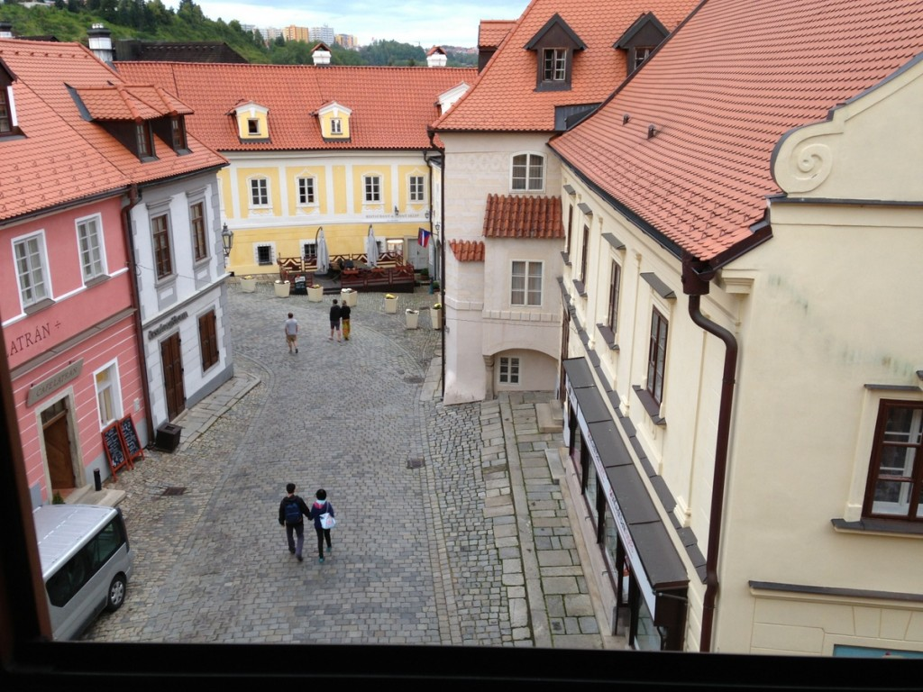 View from our room in Cesky Krumlov