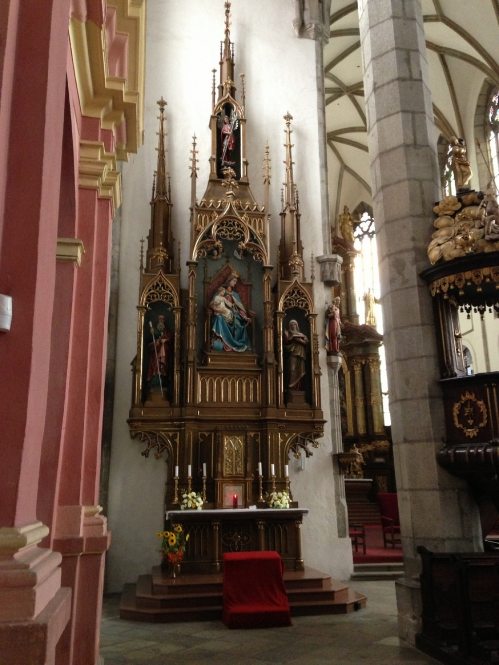 Inside the Saint Vitus Church