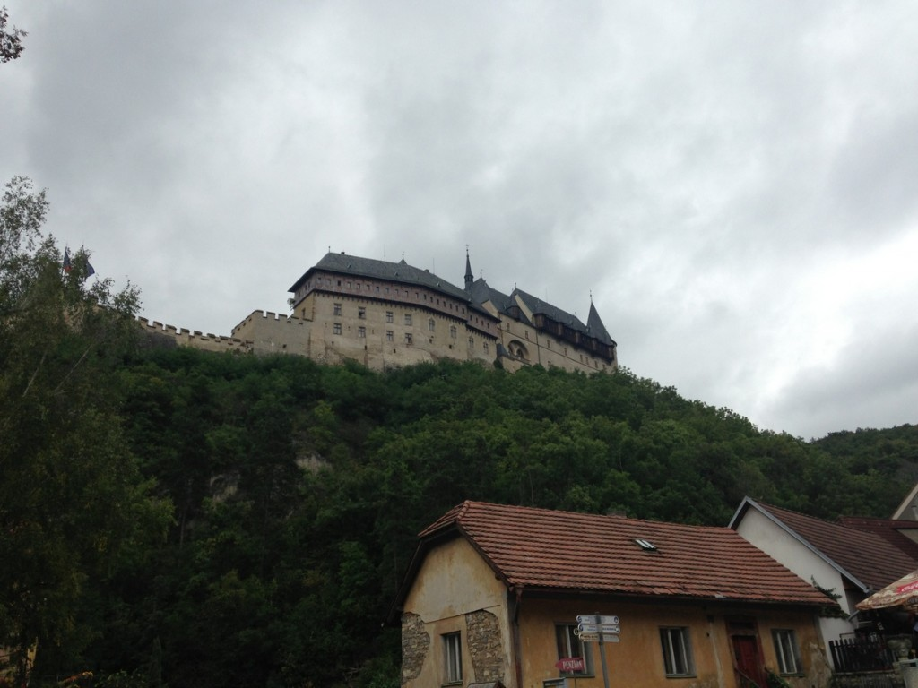 We visited Karlstein Castle on a day trip from Prague.  It was a bit of a hike up, but the castle (no photos allowed) was worth the walk.