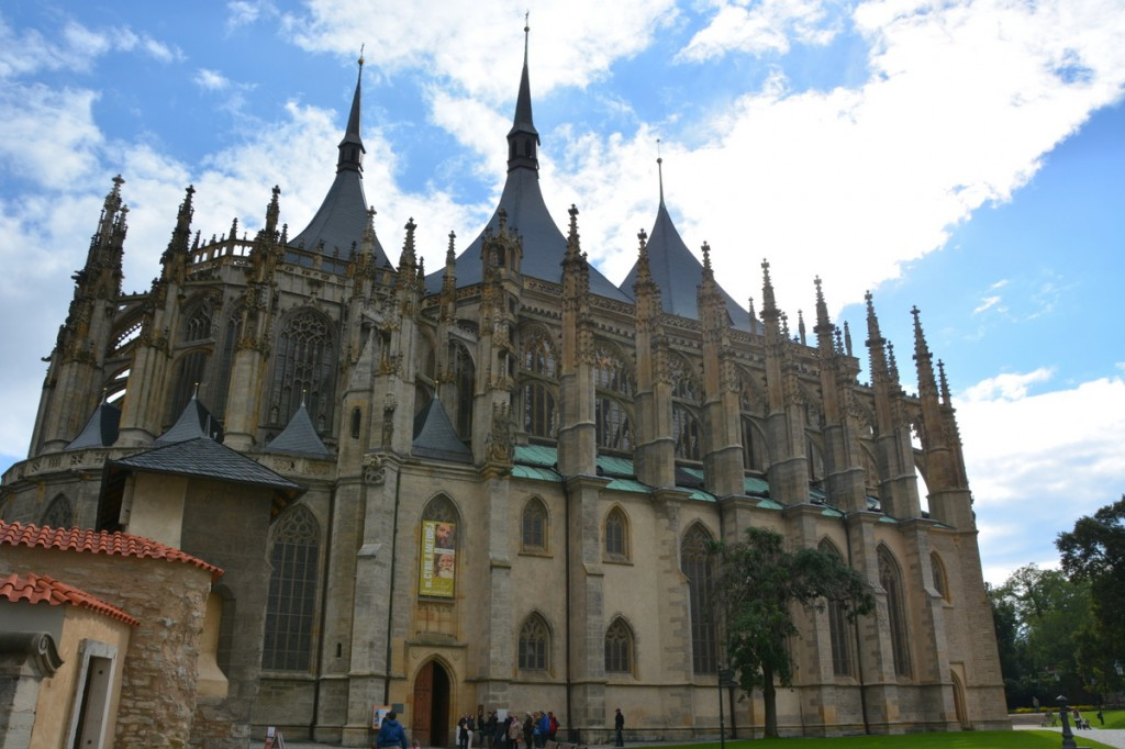Kutna Hora is a UNESCO world heritage site, and is home the fabulous Gothic, five-naved St. Barbara's Church.  It was a great stopping point on our way in to Prague an we were able to have a quick stroll around the town and check out the church in about 2 hours.