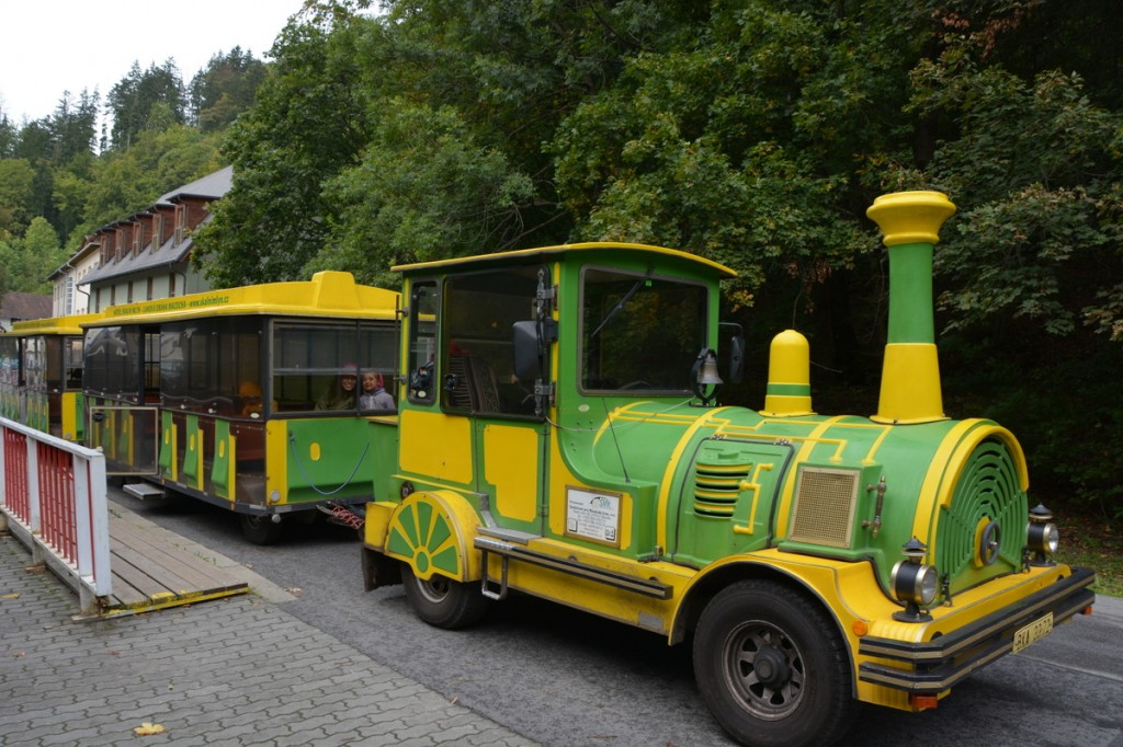 We took the train from Skalni Mlyn to get to the Punkva Caves