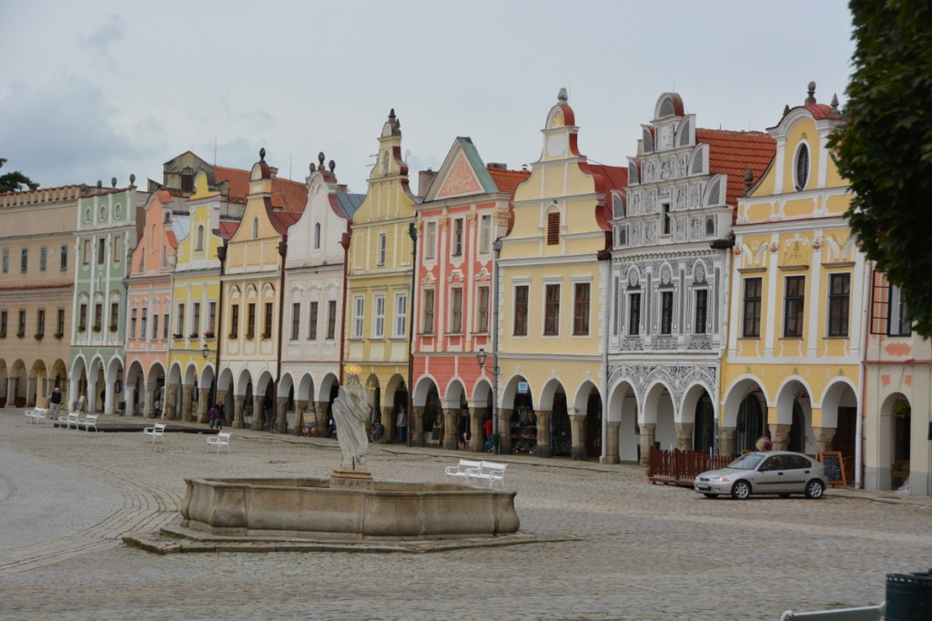 Telc is famous for its well preserved 16th century houses
