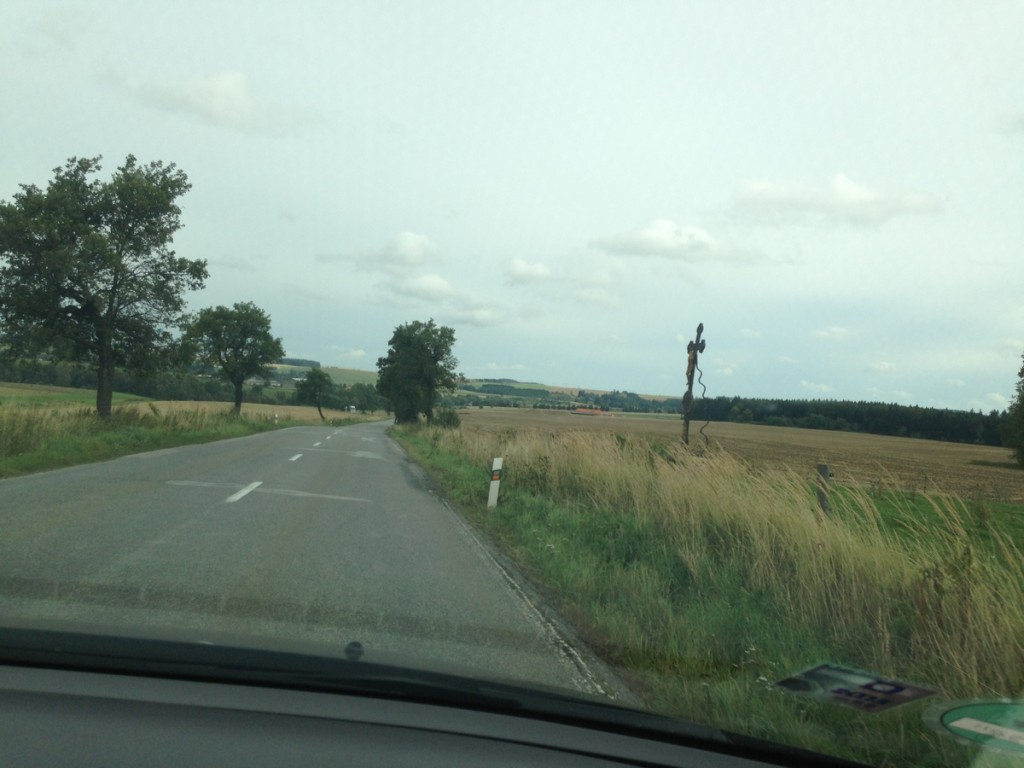 On the road from Telc to Trebic.  Pretty easy driving..