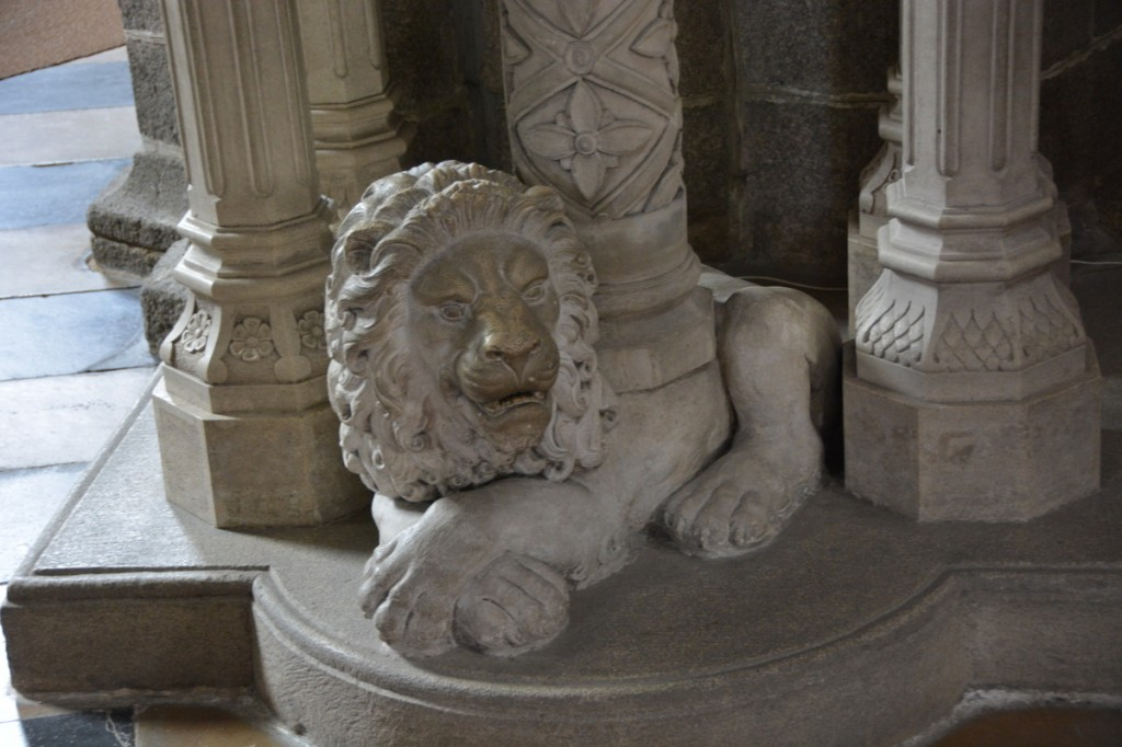 Lion in St. Procopius Basilica in Třebíč