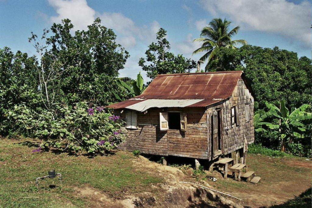 Houses on stilts in the Carib Territory
