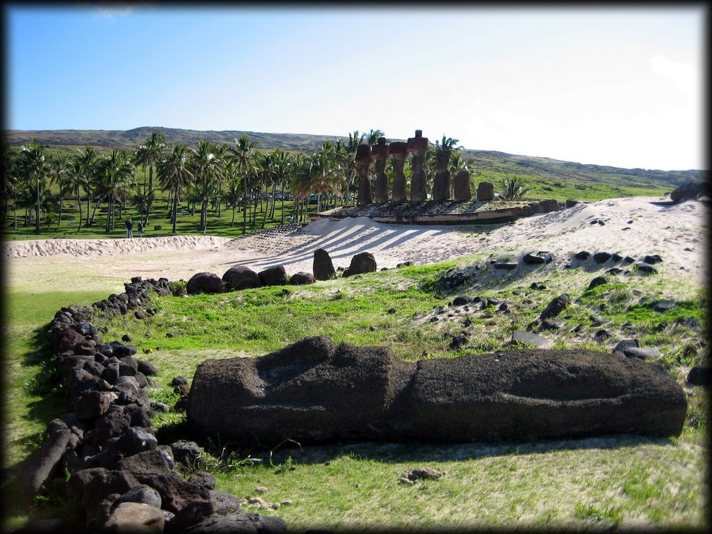 Anakena Beach is where the first settlers lived, and has a beautiful ahu.