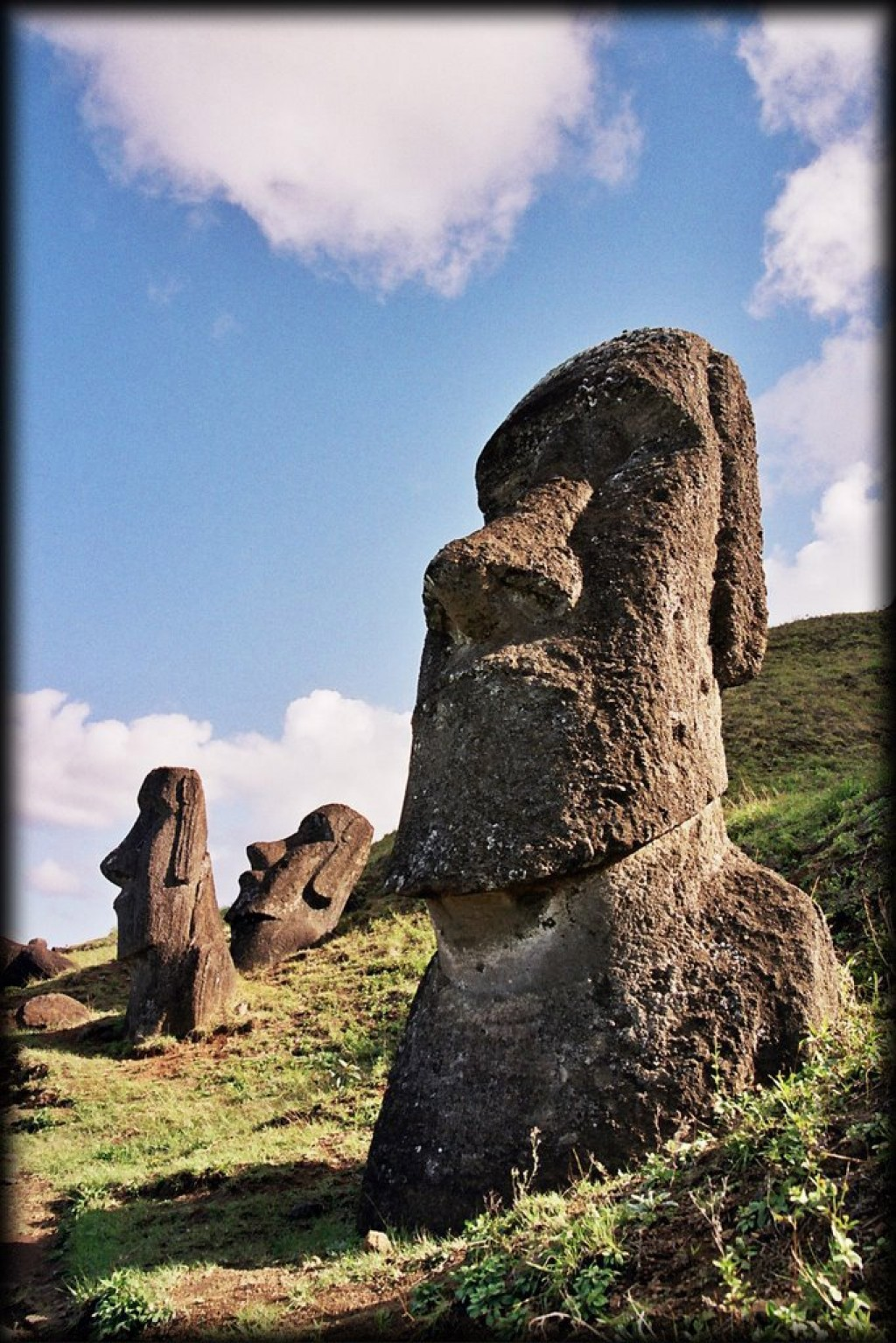 Rano Raraku is the volcano from which all the moai were carved and is one of the most spectacular sites on Easter Island.