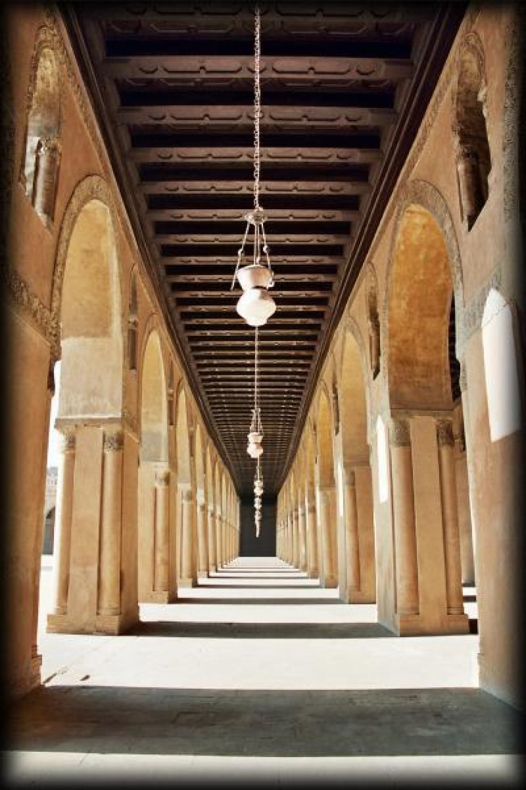 Mosque of Ibn Tulun in Islamic Cairo.