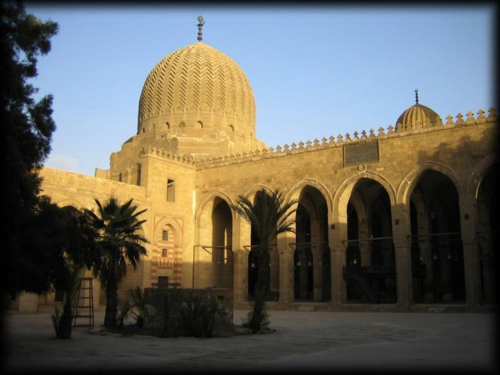 This is the Mausoleum and Mosque of Qaytbay in The Cities of the Dead, which is not worth going to, by the way.