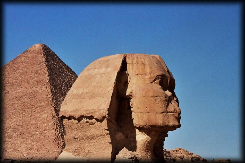 The Sphinx is smaller than we thought it would be, but impressive nonetheless.