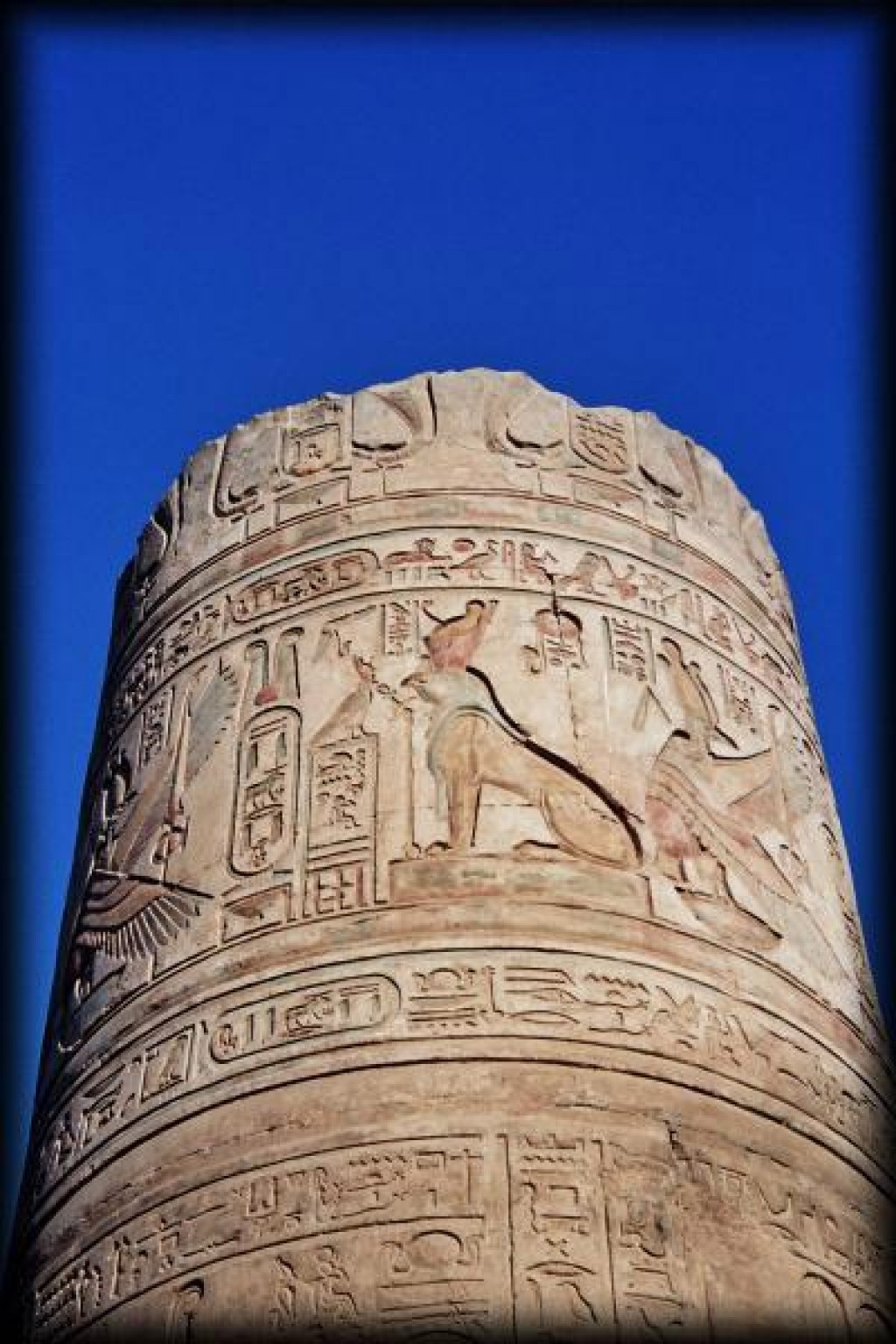 Kom Ombo is located on a bend in the river Nile about 50 km north of Aswan.  The temple is dedicated to the crocodile god Sobek and the falcon god Haroeris (Horus the Elder).