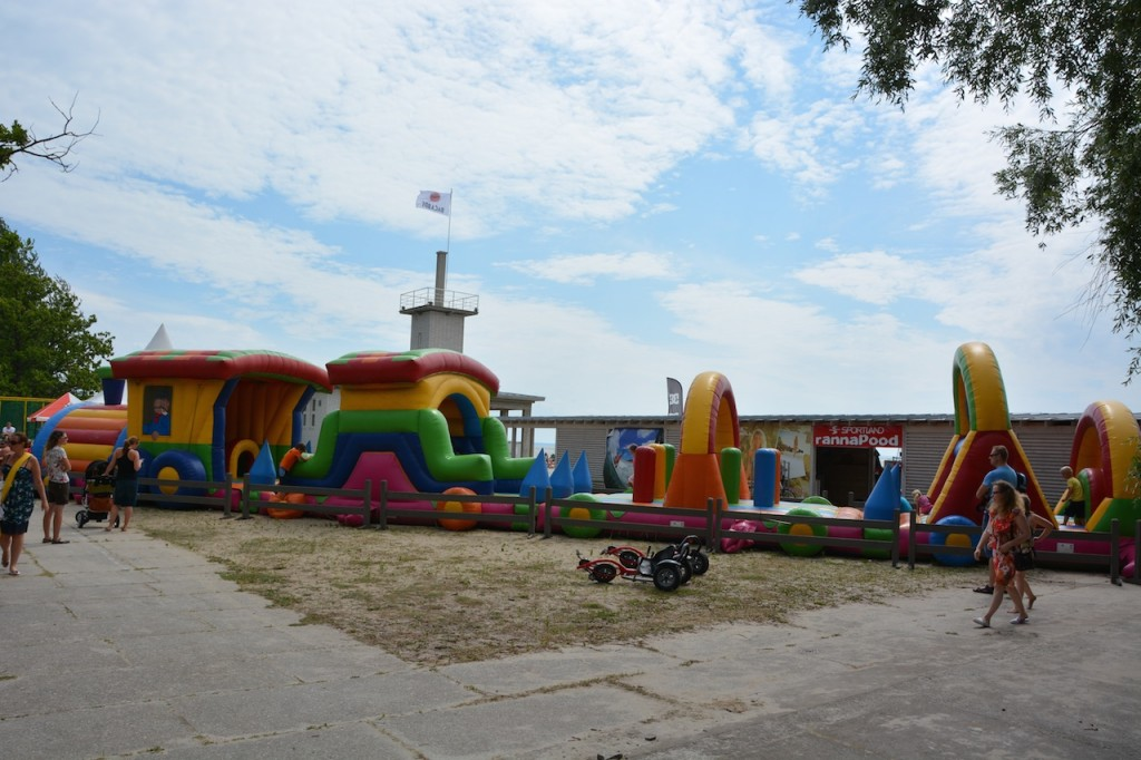 The beach town of Parnu, Estonia was a great place to stop for lunch, play on the beach for a while, and let the kids burn off steam at the awesome playground.