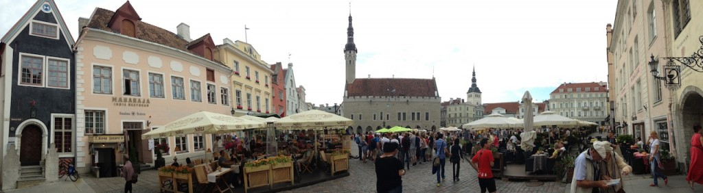 Town Hall Square panorama, old Tallinn