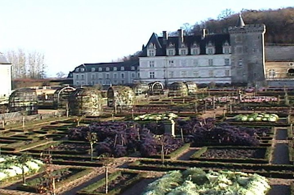 The gardens at Villandry.  In 1906 the Chateau was bought by Dr. Joachim Carvallo, who reconstructed the surrounding gardens based on 16th century documents.