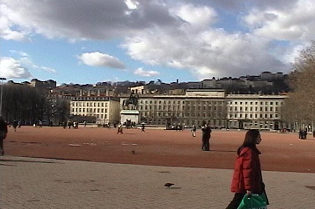 Place Bellecour, in the centre of Lyon.