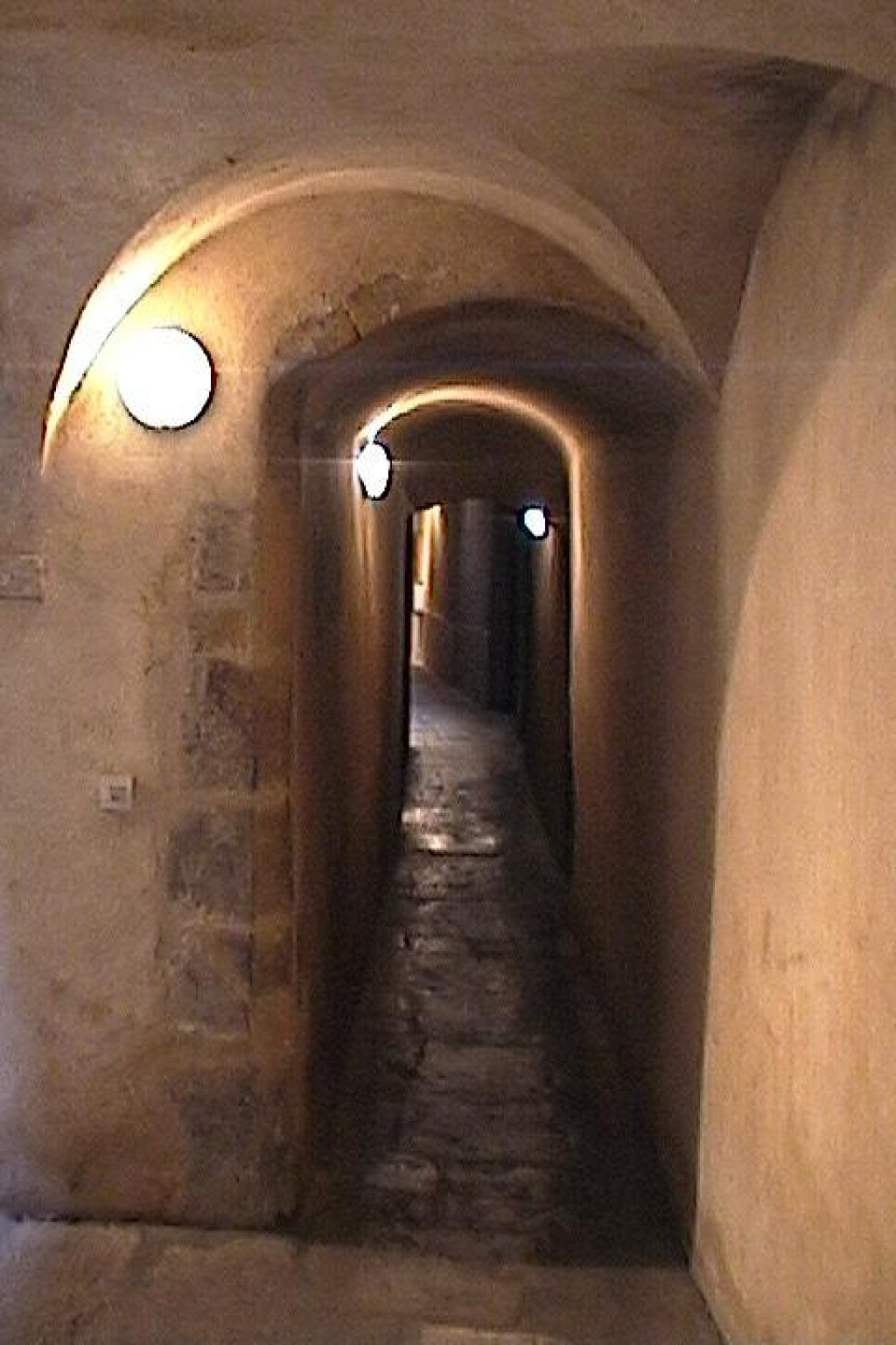 In WWII these passageways were used by the Resistance fighters (apparently the Germans didn't know about them - which just highlights the importance of buying a good guidebook - thanks, Let's Go!).