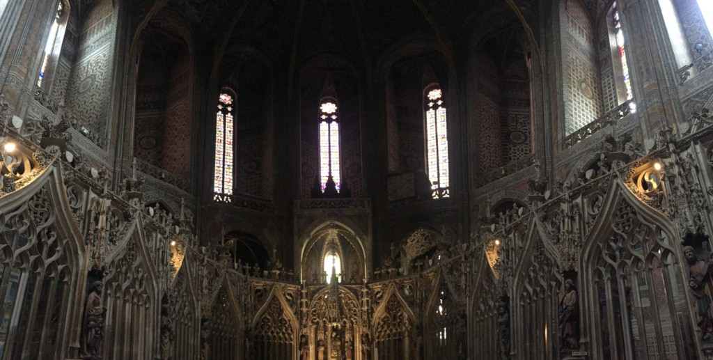 We stopped in Albi primarily to see the Toulouse Lautrec Museum.  We really enjoyed wandering around the town however, and the Sainte-Cecile Cathedral.