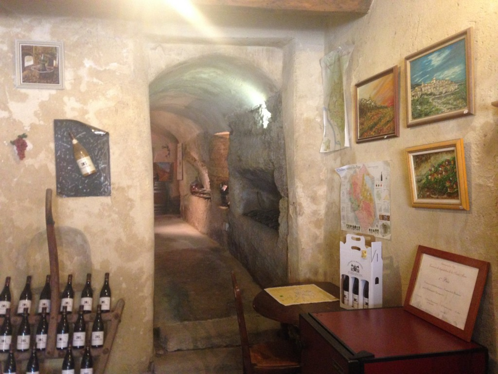 One of the wine tasting rooms in town