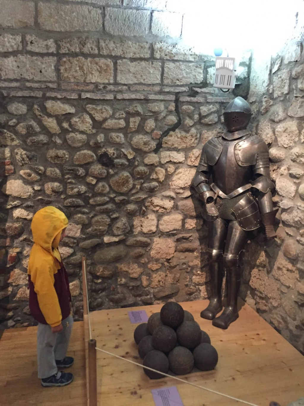 There wasn't a lot of rooms open inside the castle, but our kids still had a great time exploring.
