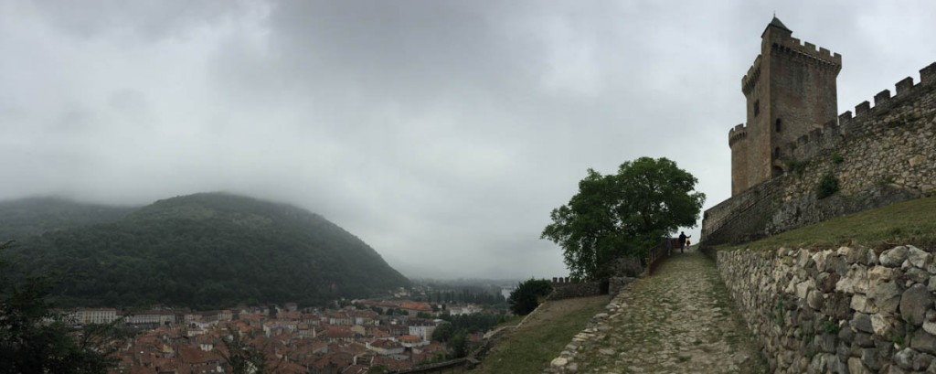 View over Foix, Ariege