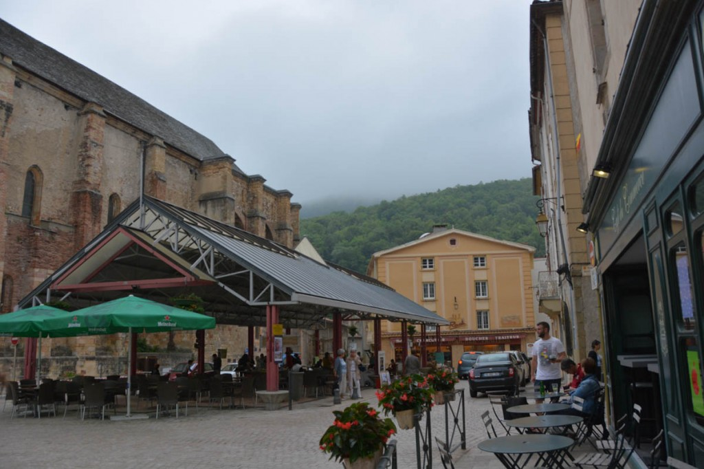 We spent an hour in Foix on the way to Andorra.  This is the square outside L'abbatiale Saint-Volusien