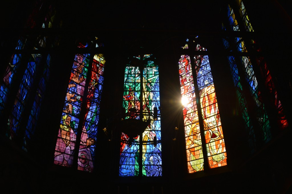 Some of the stained glass was done by Chagall, and was stunning.