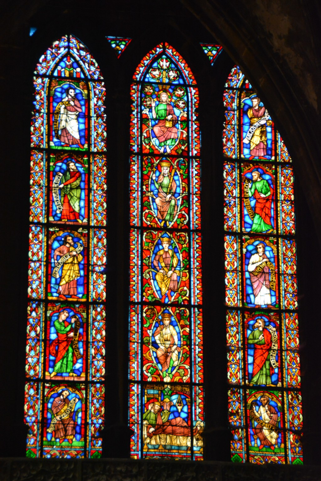 On our way in to Paris, we stopped by Metz and checked out the Cathedrale St-Etienne and it's fabulous Chagall stained glass windows.