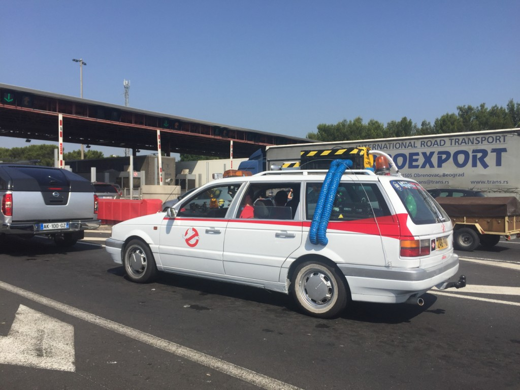 On the way to the MIllau Viaduc, we ran into the Ghostbusters.  Because France.