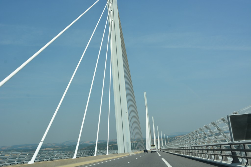 Crossing the Viaduc de Millau