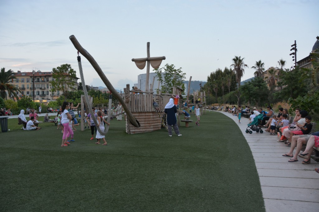 Awesome kids playground along the Promenade du Paillon