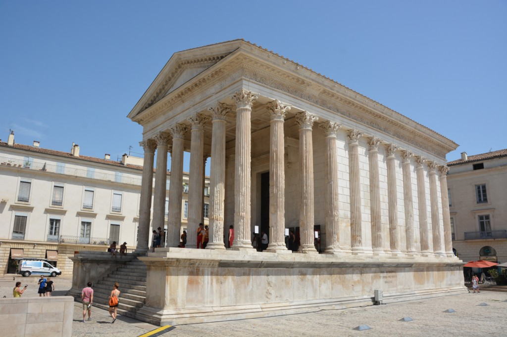 The Maison Carrée. Beautiful and well preserved on the outside, not much on the inside except a movie.