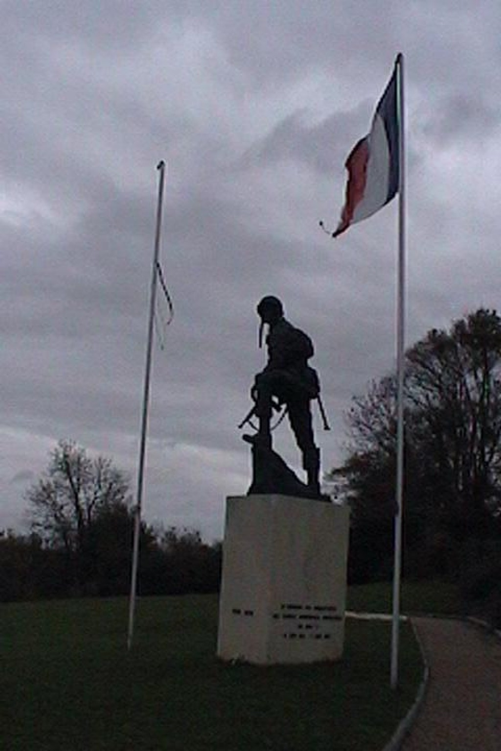 For Remembrance Day, we visited the D-Day Beaches in Normandy.  This is the memorial to the parachutists who landed near Sainte Mère-Église.  One of them got stuck on the church steeple and the locals risked their lives to give him a proper burial.