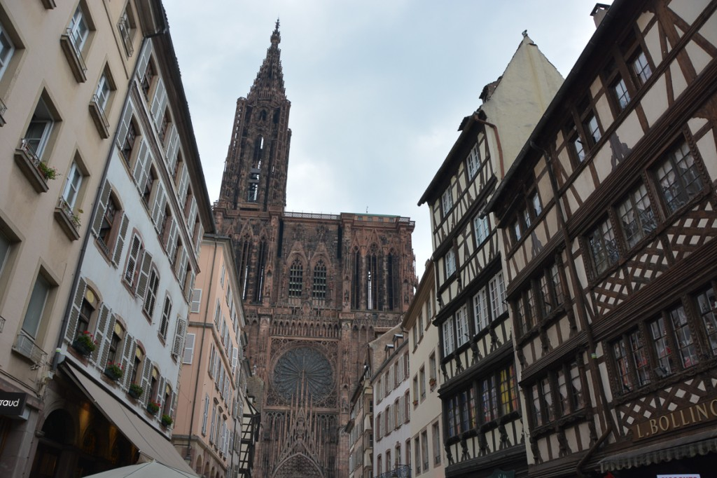 Looking towards the Strasbourg Cathedral