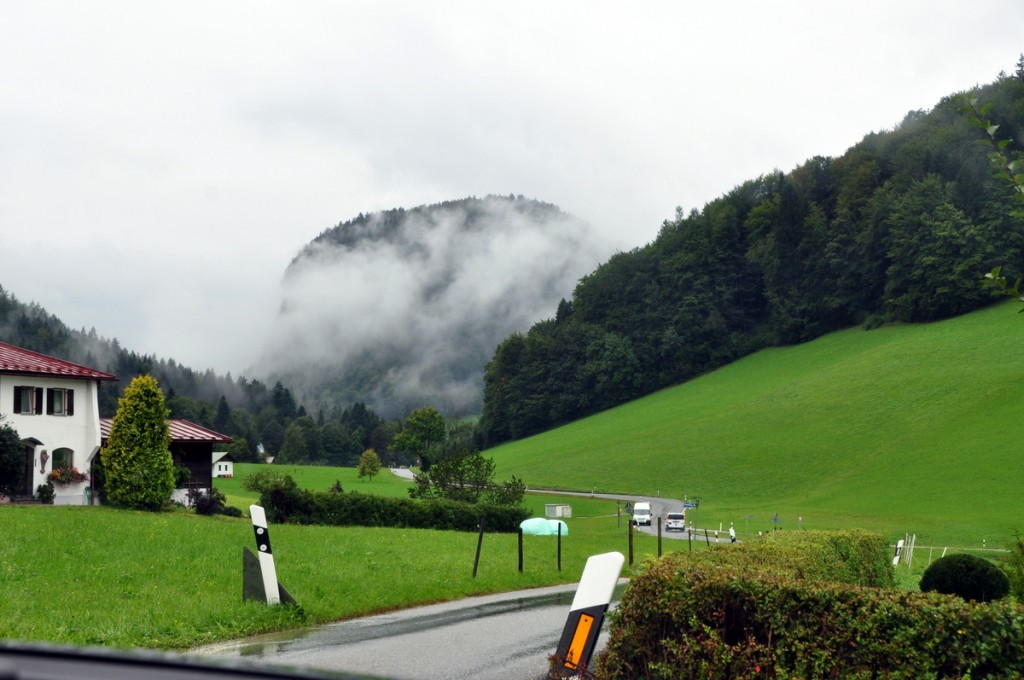 On our way into Berchtesgaden in the Alps.  The GPS took us on some pretty narrow one lane roads, but we did get there in the end!