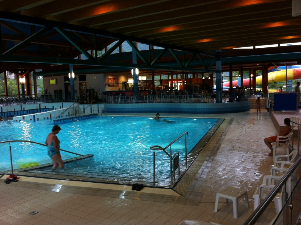 Our first stop was at Watzmann Therme, another fabulous indoor water park where we let the kids blow off some steam (and while we waited for some bad weather to pass).