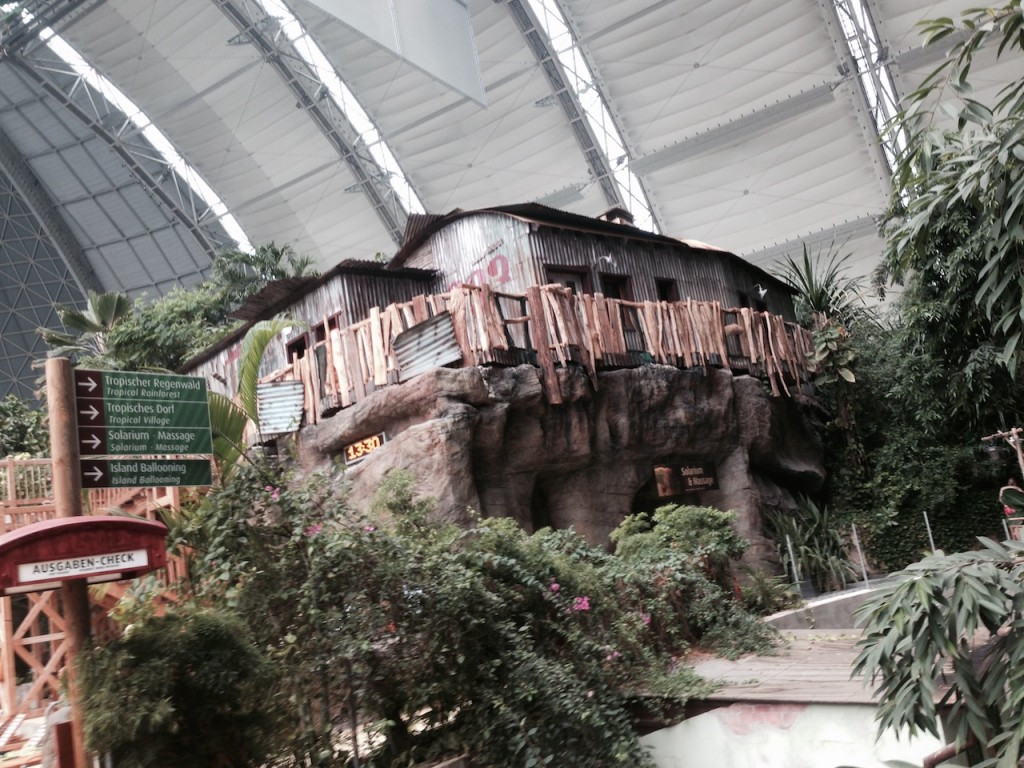 There are various themed hotel rooms spread throughout the dome.