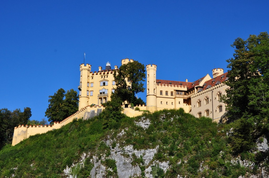 Looking up at Hohenschwangau Castle