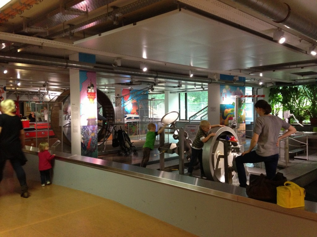 We visited the Deutsches Museum in Munich.  It's mostly an air and space museum, but in the basement is this fantastic kids play area that our kids really enjoyed. It was a fabulous rainy day activity in Munich. Highly recommended!